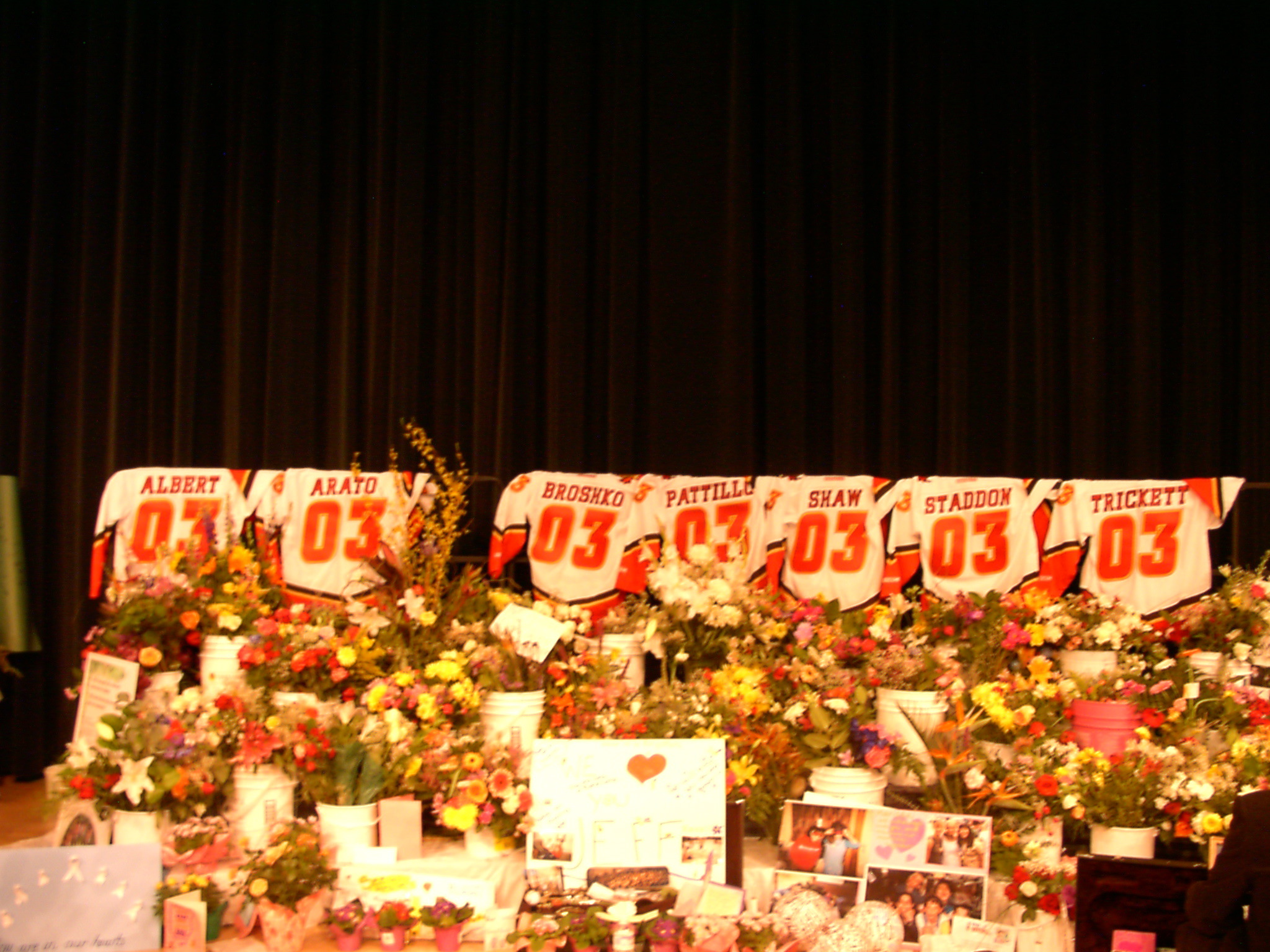 4 STS Auditorium with Calgary Flames Jerseys at the Memorial