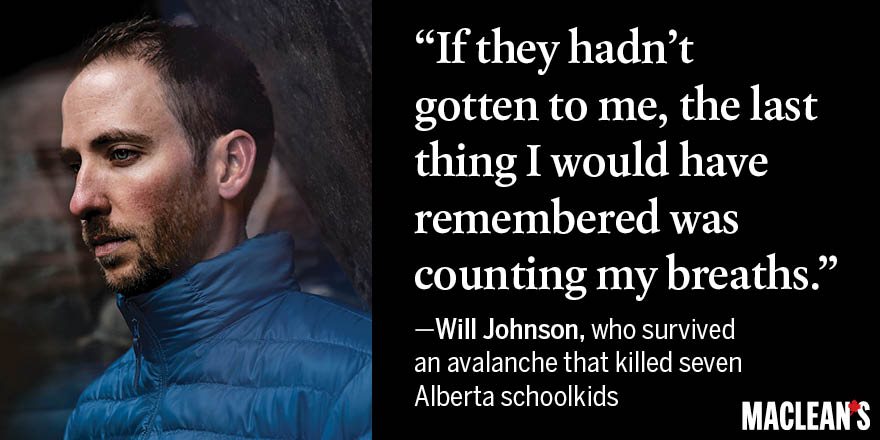 7 Survivor Will Johnson in Macleans 2015