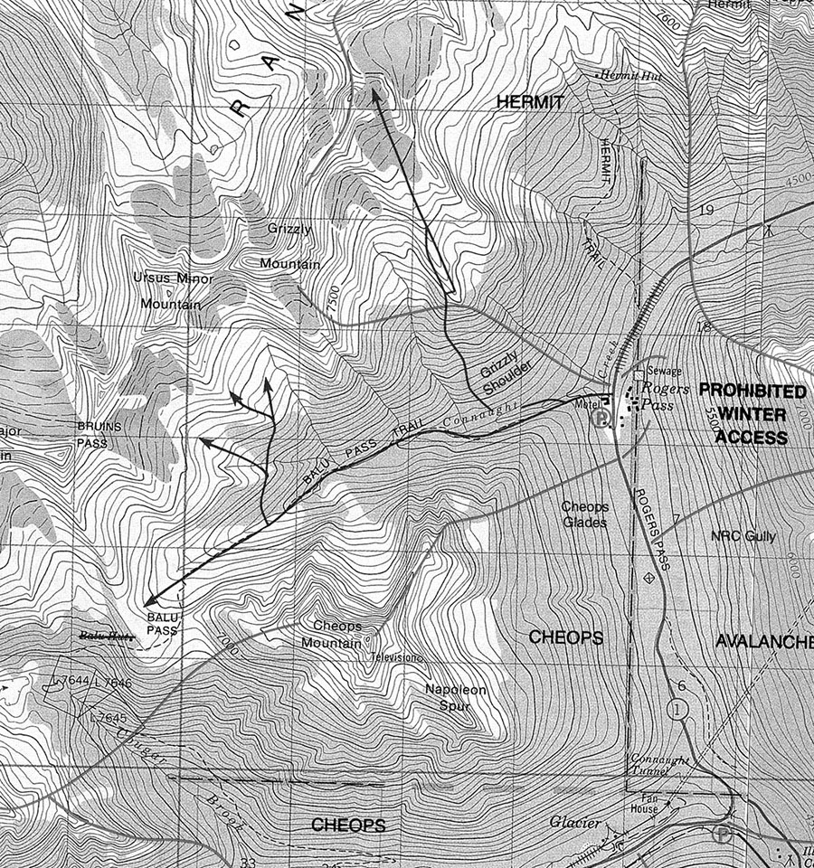 1 1 Balu Pass Skitour Map