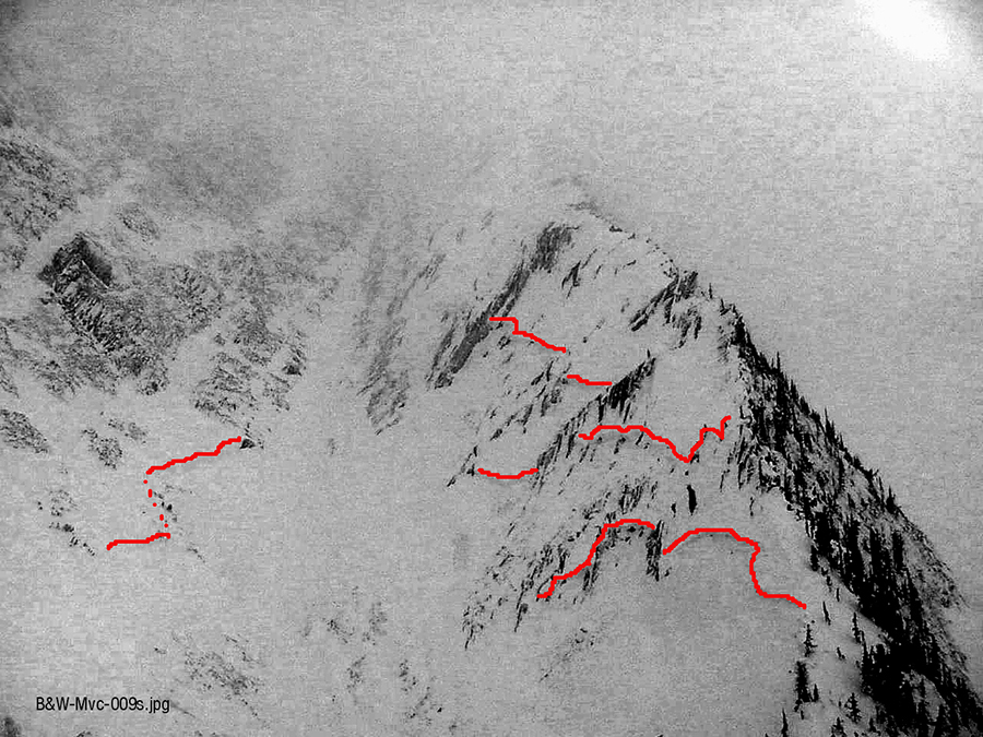 4 Avalanche Fracture Lines